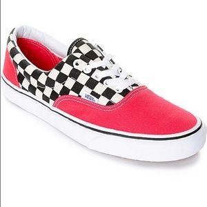 Vans era red Checkerboard